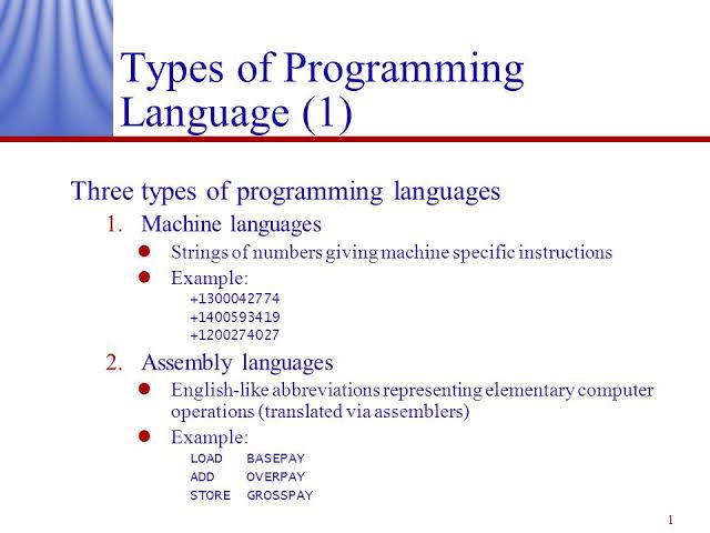 Low level language and it's type : Machine level language