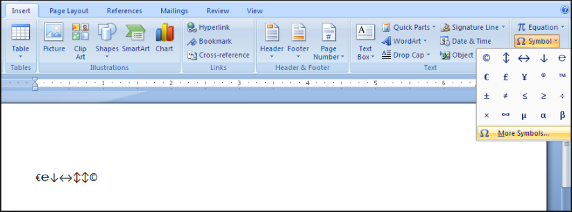 How To Insert Symbols In Word Document