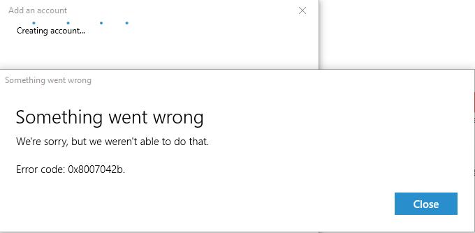 windows 10 1803 error