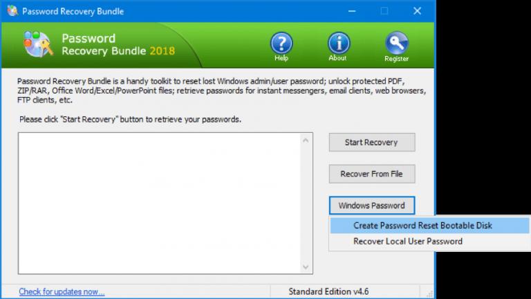 reset local user password windows 7
