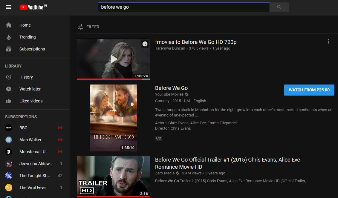 best movies website to watch online